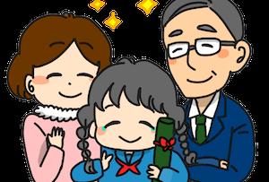 両親と娘(子供)