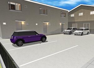 アパートの駐車場