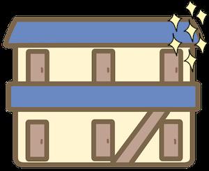 新築の学生アパート